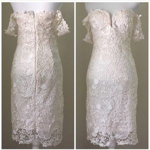 Soieblu Embroidered Lace Mini Dress